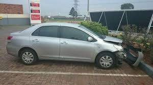 accident damaged corolla